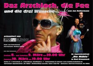 """Plakat """"Das Arschloch, die Fee und die drei Wünsche"""""""